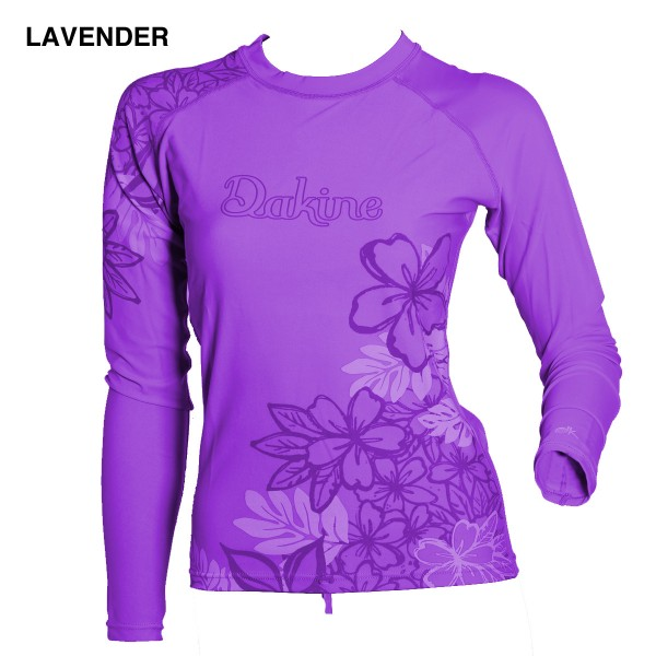 Dakine Paradise Floral Lycra Longsleeve Lavender