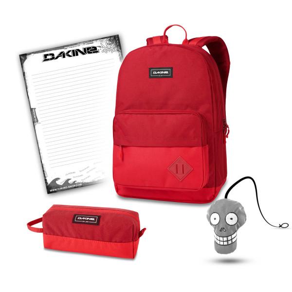Dakine 365 Pack 30L + Accessory Case + Harry + Block Schulset Deep Crimson