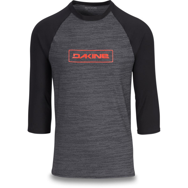 Dakine Roots Raglan Loose Fit 3/4 Sleeve Herren Lycra Black Heather