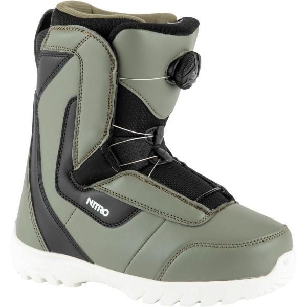 Nitro Droid Boa Boot 21 Snowboard Boots Charcoal-Blk-Wht