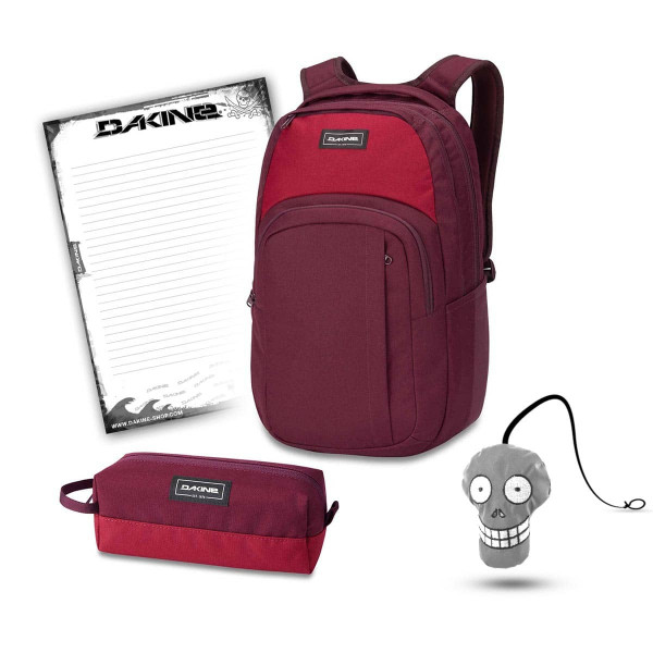 Dakine Campus L 33L + Accessory Case + Harry + Block Schulset Garnet Shadow