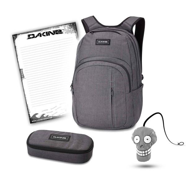 Dakine Campus Premium 28L + School Case + Harry + Block Schulset Carbon