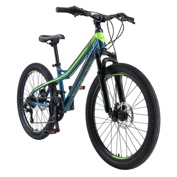 BIKESTAR Kinder Fahrrad Mountainbike 21 Gang Shimano Grün ab 10 Jahre - 24 Zoll