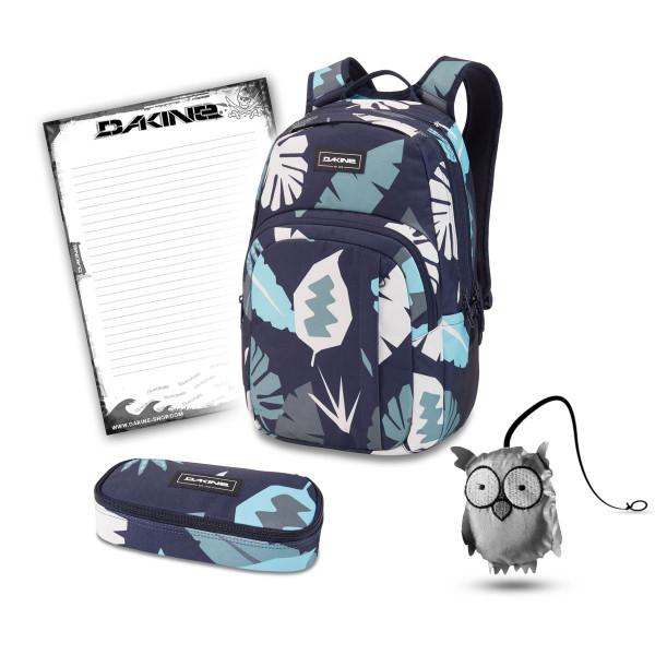 Dakine Campus M 25L + School Case + Emma + Block Schulset Abstract Palm