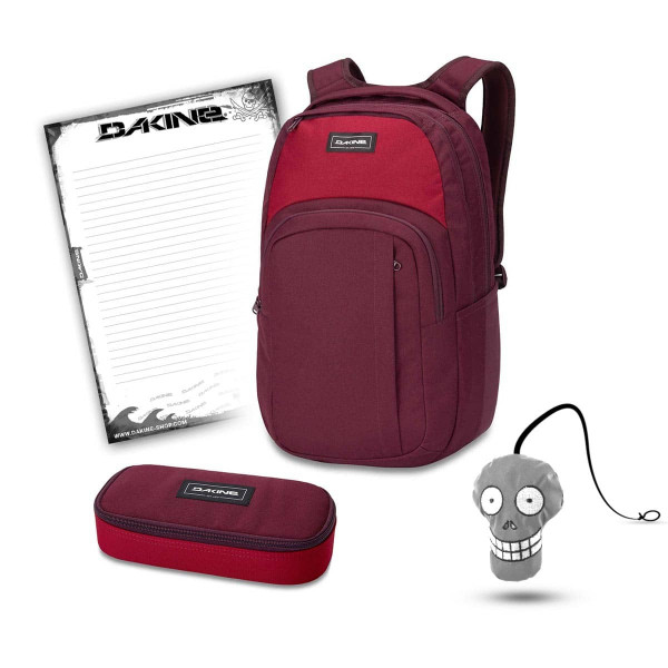 Dakine Campus L 33L + School Case + Harry + Block Schulset Garnet Shadow