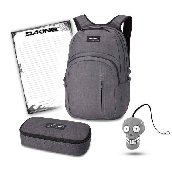 Dakine Campus Premium 28L + School Case XL + Harry + Block Schulset Carbon