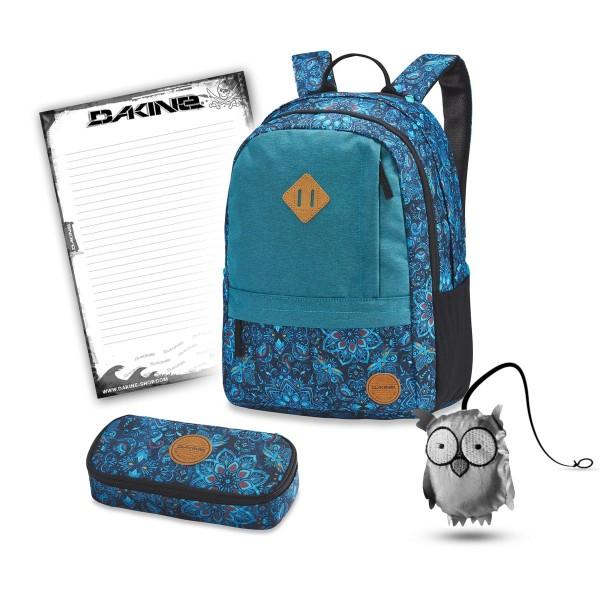 Dakine Byron 22L + School Case + Emma + Block Schulset Blue Magnolia