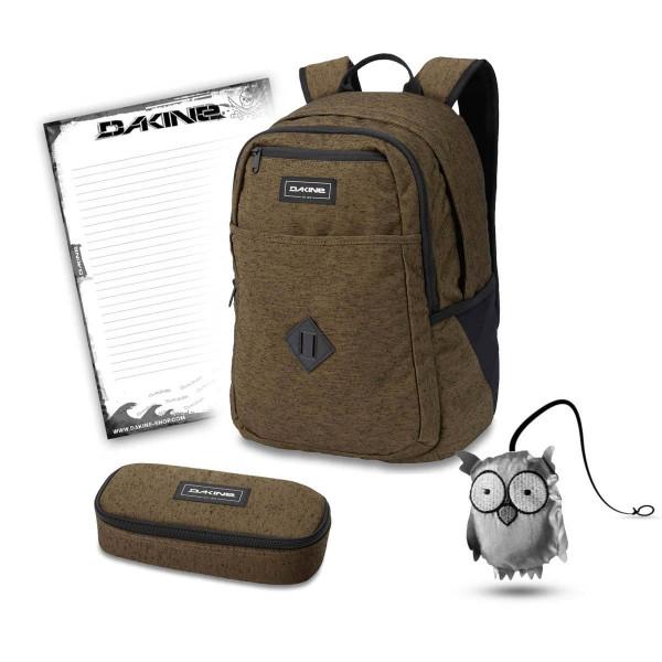 Dakine Essentials Pack 26L + School Case + Emma + Block Schulset Dark Olive