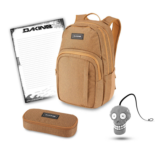 Dakine Campus M 25L + School Case + Harry + Block Schulset Caramel