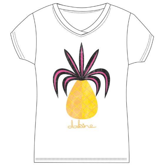 Dakine Pineapple T-Shirt White Größe S