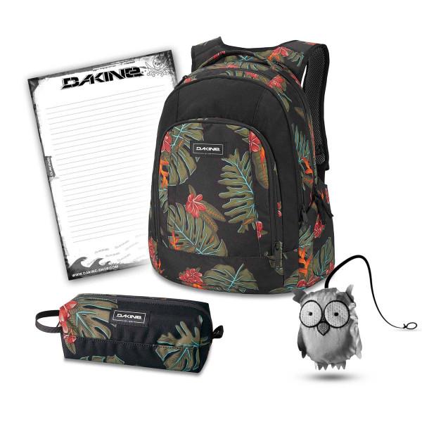 Dakine Frankie 26L + Accessory Case + Emma + Block Schulset Jungle Palm