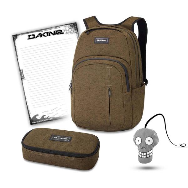 Dakine Campus Premium 28L + School Case XL + Harry + Block Schulset Dark Olive