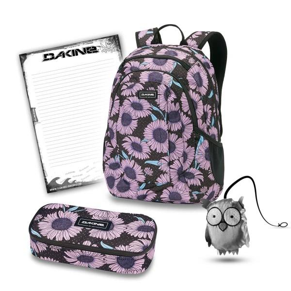 Dakine Garden 20L + School Case XL + Emma + Block Schulset Nightflower