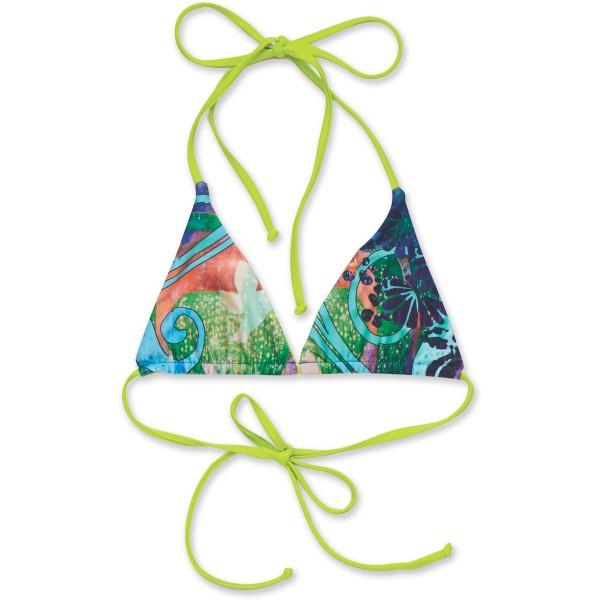 Dakine Kahoni Reversible Triangle wendbares Bikini Top Shambhala Lime