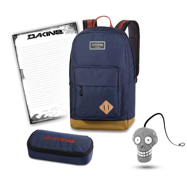 Dakine 365 Pack DLX 27L + School Case + Harry Block Schulset Dark Navy