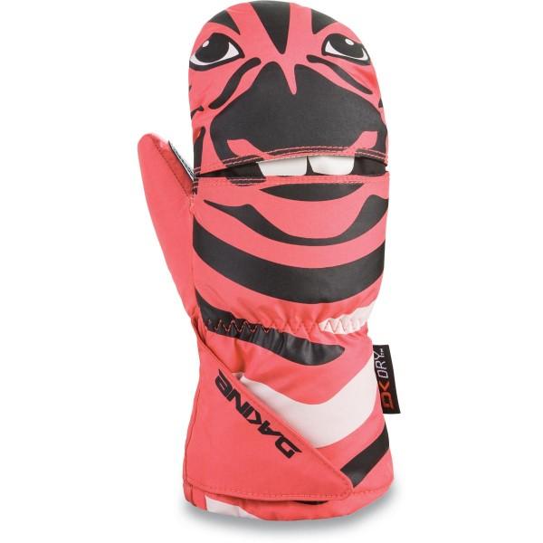 Dakine Scrambler Mitt Kleinkinder Ski- / Snowboard Handschuhe Fäustlinge Zebra
