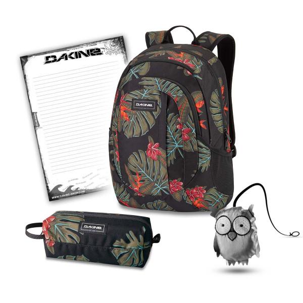 Dakine Garden 20L + Accessory Case + Emma + Block Schulset Jungle Palm