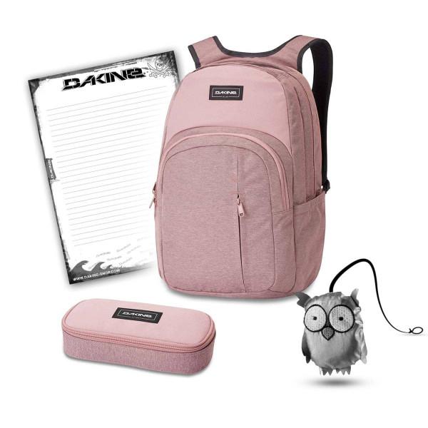 Dakine Campus Premium 28L + School Case + Emma + Block Schulset Woodrose