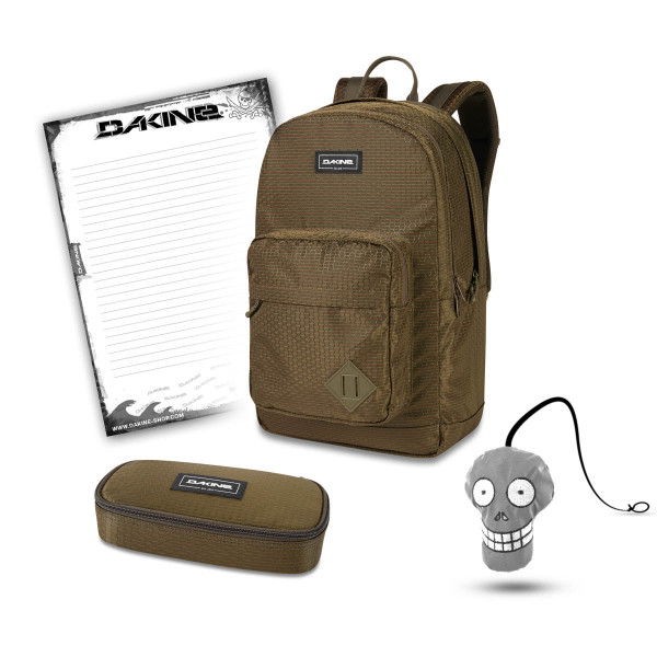 Dakine 365 Pack DLX 27L + School Case + Harry + Block Schulset Dark Olive Dobby