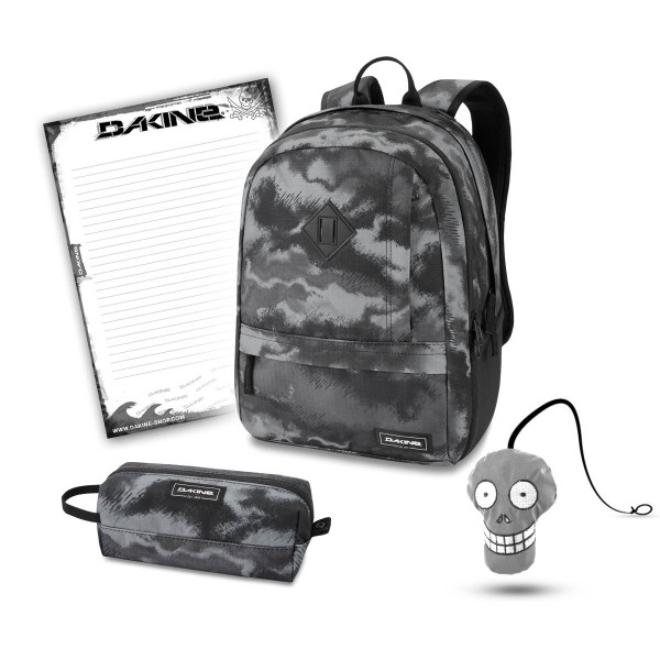 Dakine Essentials Pack 22L + Accessory Case + Harry + Block Schulset Dark Ashcroft Camo