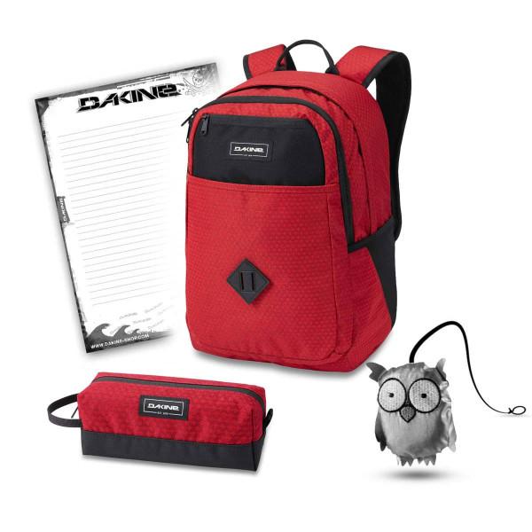 Dakine Essentials Pack 26L + Accessory Case + Emma + Block Schulset Crimson Red