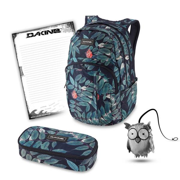 Dakine Campus Premium 28L + School Case XL + Emma + Block Schulset Eucalyptus Floral