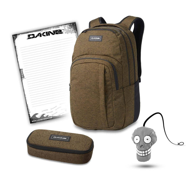 Dakine Campus L 33L + School Case + Harry + Block Schulset Dark Olive