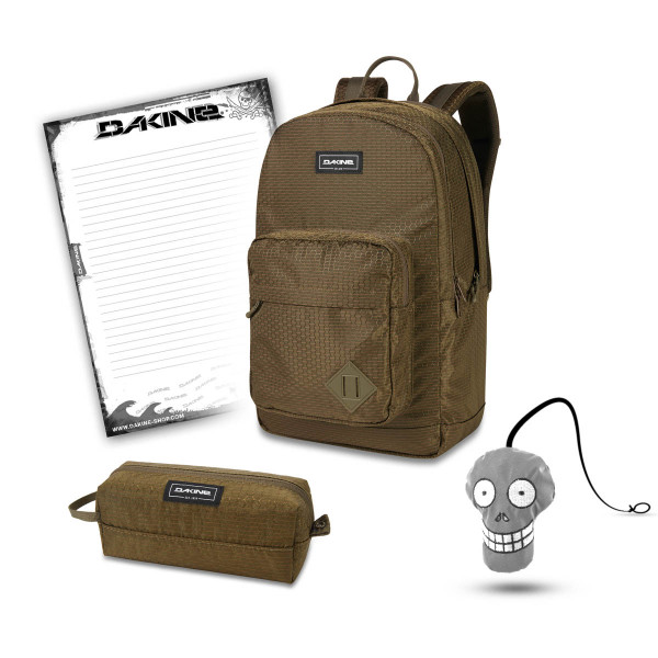 Dakine 365 Pack DLX 27L + Accessory Case + Harry + Block Schulset Dark Olive Dobby