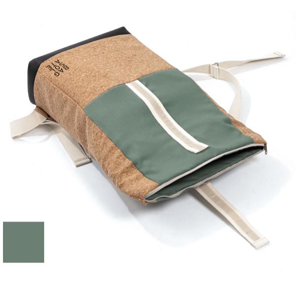 BAGSOLATE isolierter und nachhaltiger Recycling Rucksack Moosgrün 20L