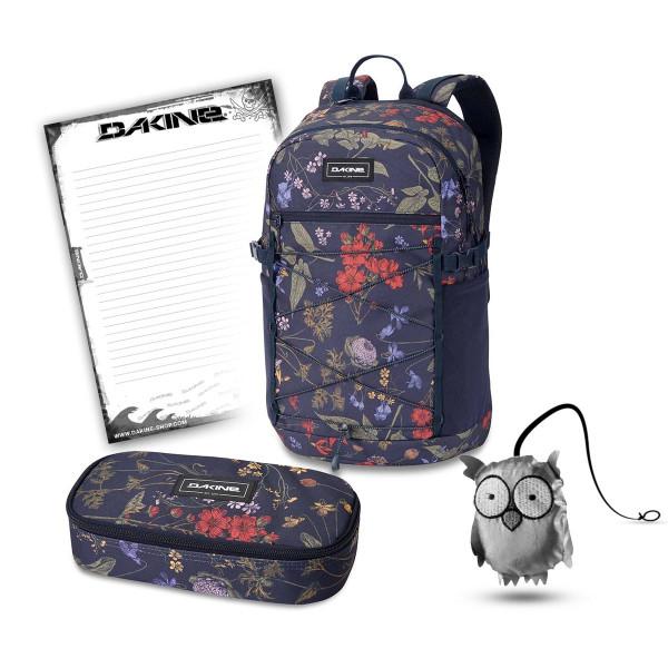 Dakine WNDR Pack 25L + School Case XL + Emma + Block Schulset Botanics PET