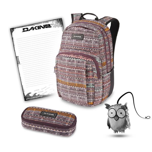 Dakine Campus M 25L + School Case + Emma + Block Schulset Multi Quest
