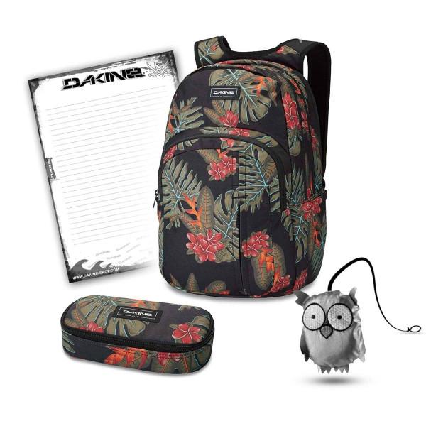 Dakine Campus Premium 28L + School Case + Emma + Block Schulset Jungle Palm