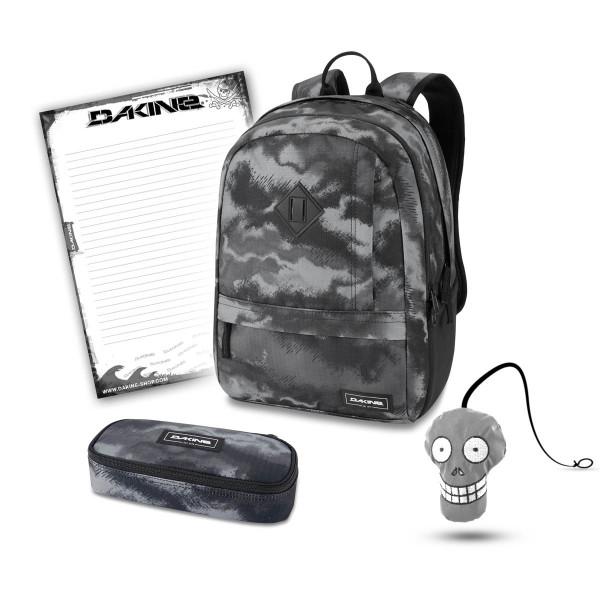 Dakine Essentials Pack 22L + School Case + Harry + Block Schulset Dark Ashcroft Camo