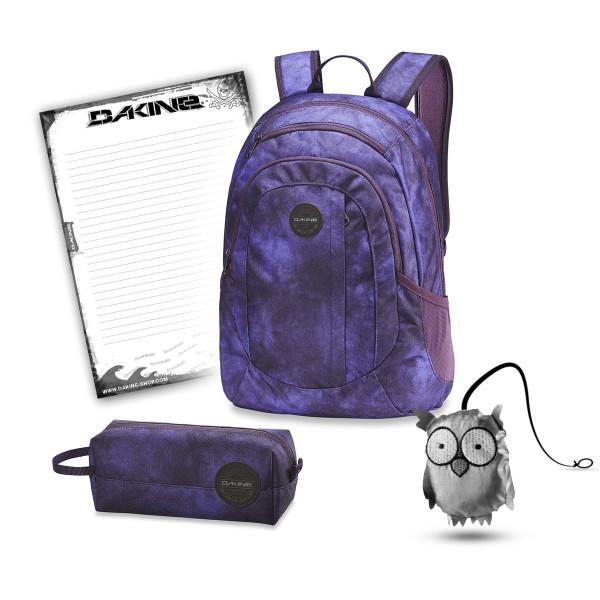 Dakine Garden 20L + Accessory Case + Emma + Block Schulset Purple Haze