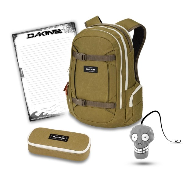 Dakine Mission 25L + School Case + Harry + Block Schulset Pine Trees