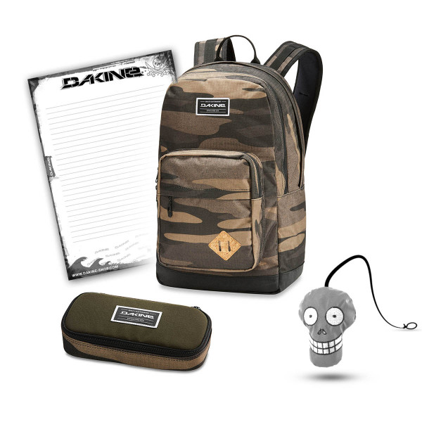 Dakine 365 Pack DLX 27L + School Case + Harry Block Schulset Field Camo