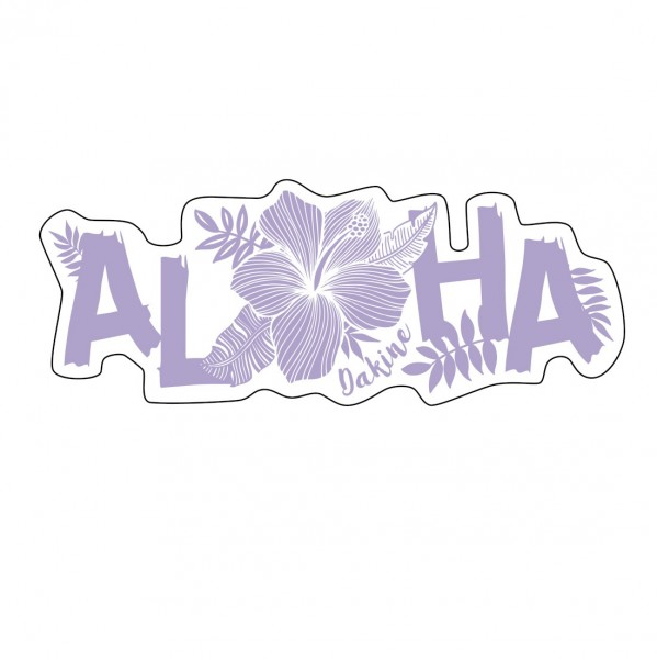 Dakine Aloha Sticker Aufkleber Purple (13 x 5 cm)