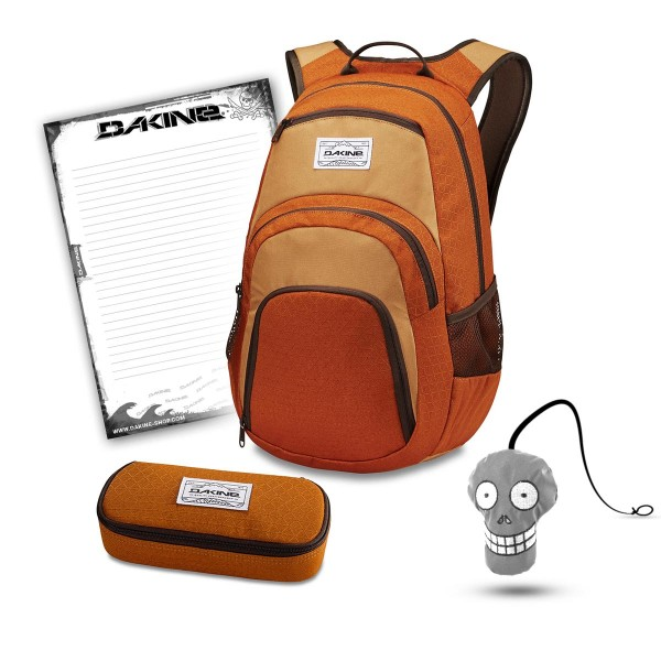 Dakine Campus 25L + School Case + Harry + Block Schulset Copper