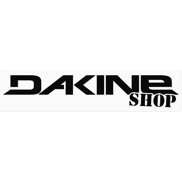 Dakine Shop Outdoor Aufkleber Schwarz auf weißer Folie (42 x 10 cm)