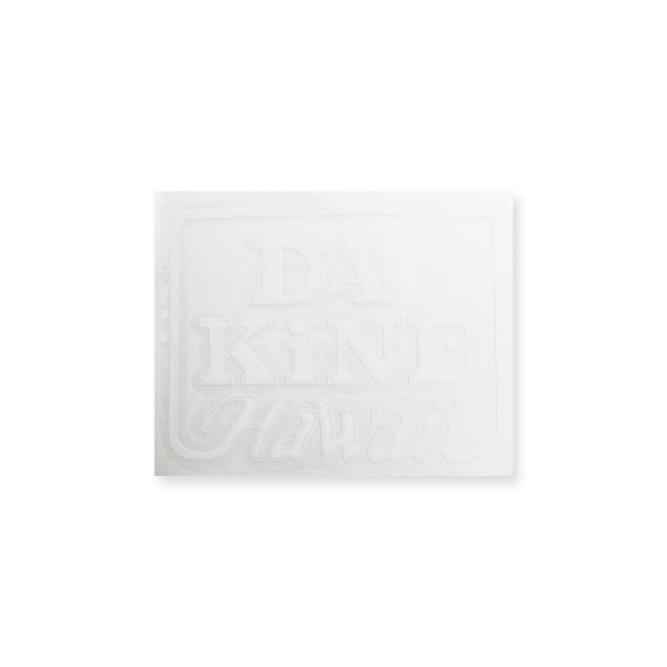 Dakine Hawaii Logo Plotted Aufkleber White Medium (11 x 9 cm)