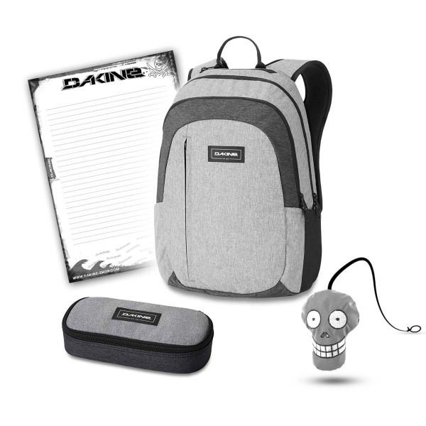 Dakine Factor 22L + School Case + Harry + Block Schulset Greyscale