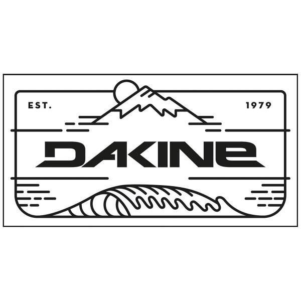 Dakine Mountain Wave Plotted Aufkleber Black (11 x 5 cm)