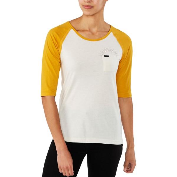 Dakine Rikki 3/4 Baseball Tee Damen T-Shirt Mineral Yellow