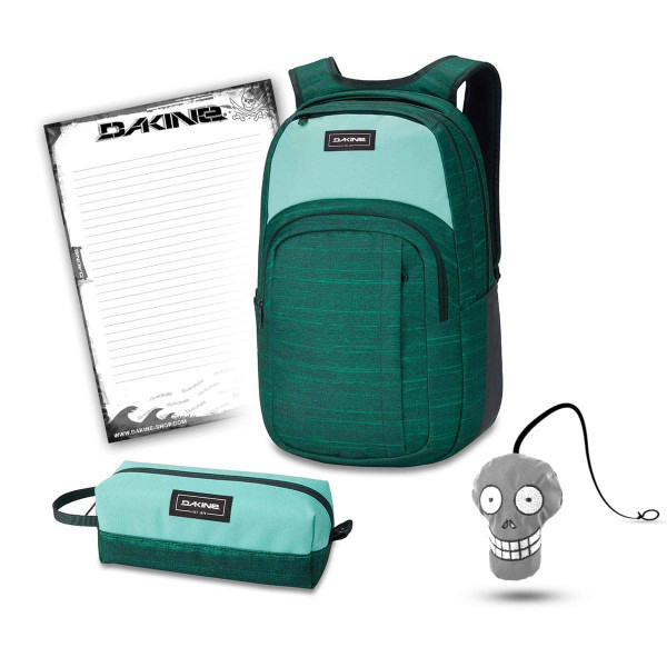 Dakine Campus L 33L + Accessory Case + Harry + Block Schulset Greenlake