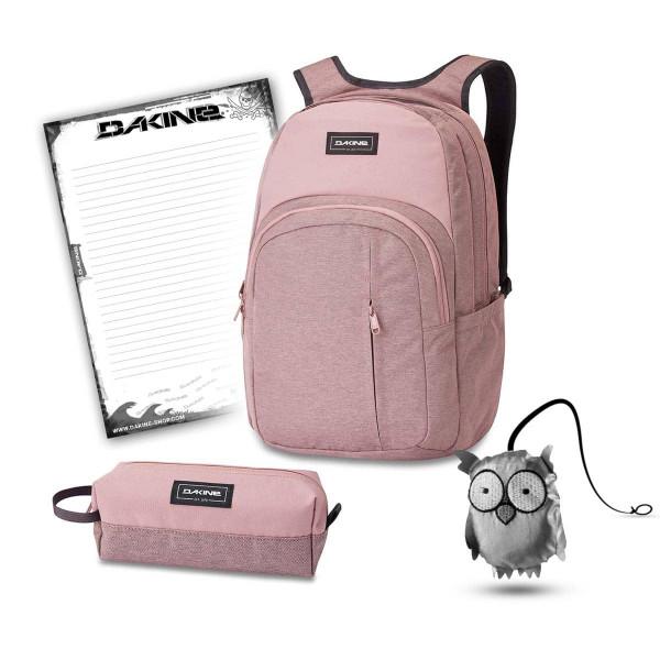 Dakine Campus Premium 28L + Accessory Case + Emma + Block Schulset Woodrose