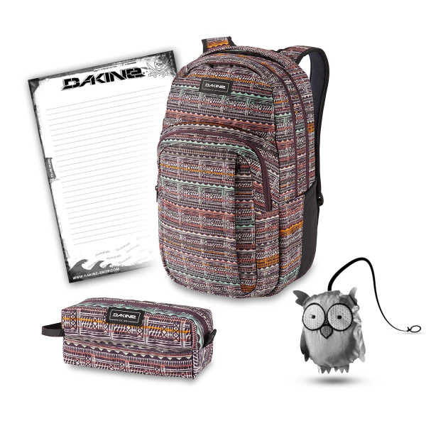 Dakine Campus L 33L + Accessory Case + Emma + Block Schulset Multi Quest