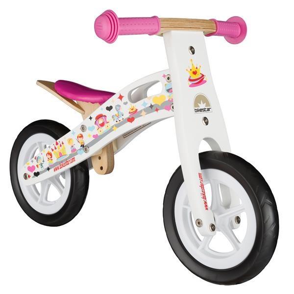 BIKESTAR Kinder Laufrad Holz Weiß ab 2 Jahre - 10 Zoll