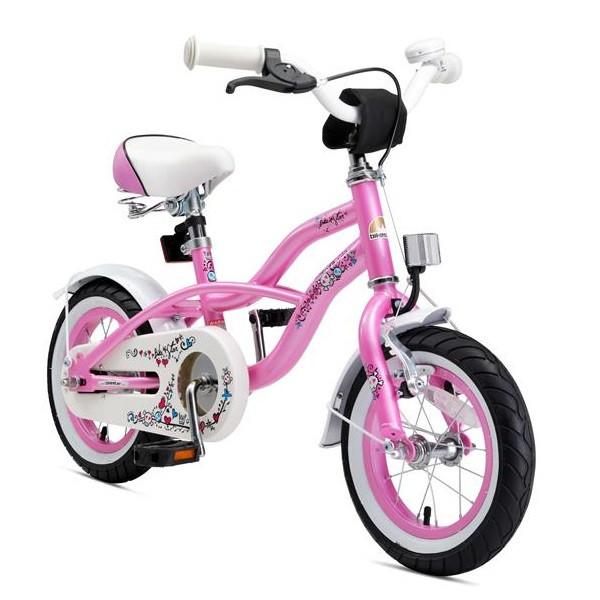 BIKESTAR Kinder Fahrrad Cruiser Pink ab 3 Jahre - 12 Zoll