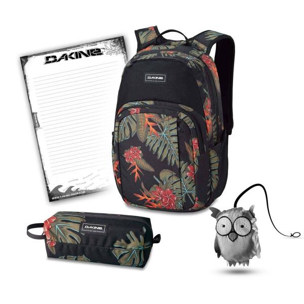 Dakine Campus M 25L + Accessory Case + Emma + Block Schulset Jungle Palm