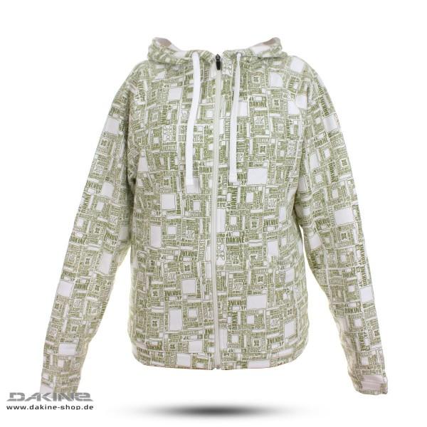 Dakine Box Print Zip Herren Hoodie Kapuzen Pullover White